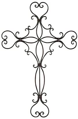 Deco 79 Metal Wall Cross H, W-71811, 30