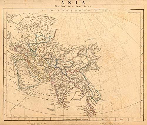 Asia Ancient Middle East India Arabia Scythia Serica Parthia Arrowsmith - 1828 - Old map - Antique map - Vintage map - Printed maps of Asia