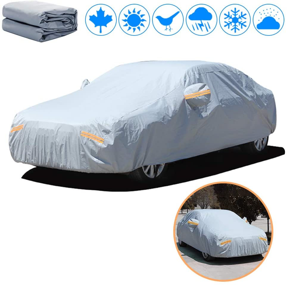 Car Cover Fit for Subaru BRZ - PEVA Waterproof Windproof Snowproof Scratch Resistant UV Protection - All-Weather Protection Full Body car Cover Yellow