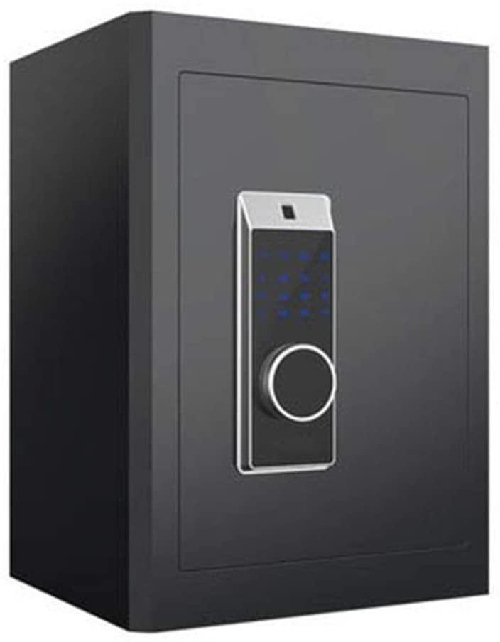 YADSHENG Safe Room Electronic Password Safe Eco-Friendly Leather Interior Fingerprint Unlocking Safe High Home Office Bedside Table Safe Cabinet Safes (Color : Black, Size : 450X380X330mm)
