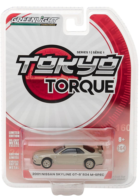 Greenlight 1:64 Tokyo Torque Series 1 - 2001 Nissan Gt-R (R34)