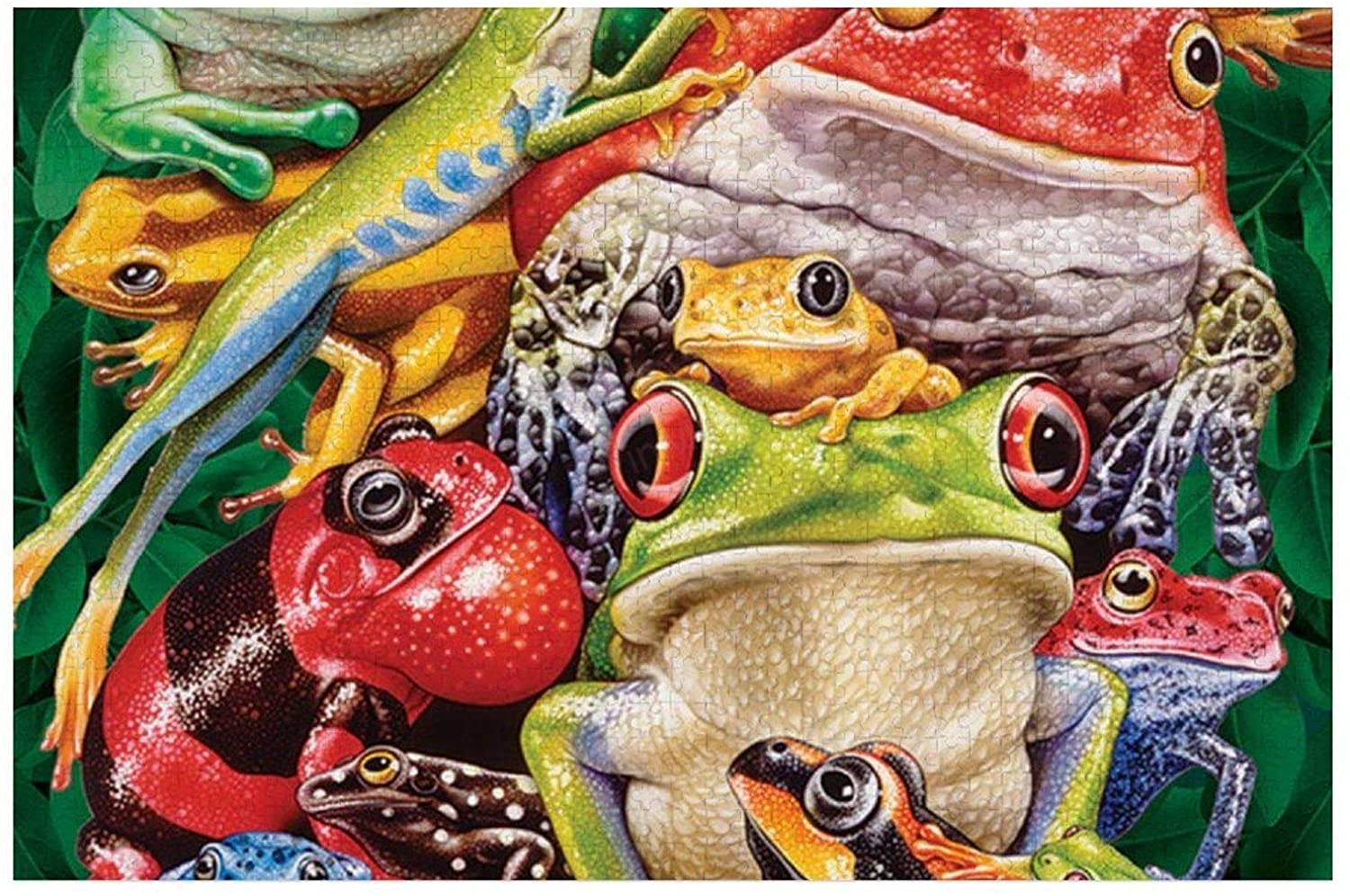500 Piece Wooden Jigsaw Puzzle Frog Business Large Puzzle Game for Adults and Teenagers