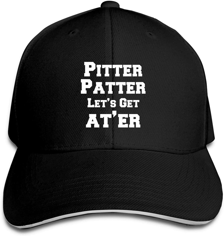Pitter-Patter-Lets-Get-at Er Adult Fashion Young Adjustable Baseball Cap Casual Hat Sun Hat Black