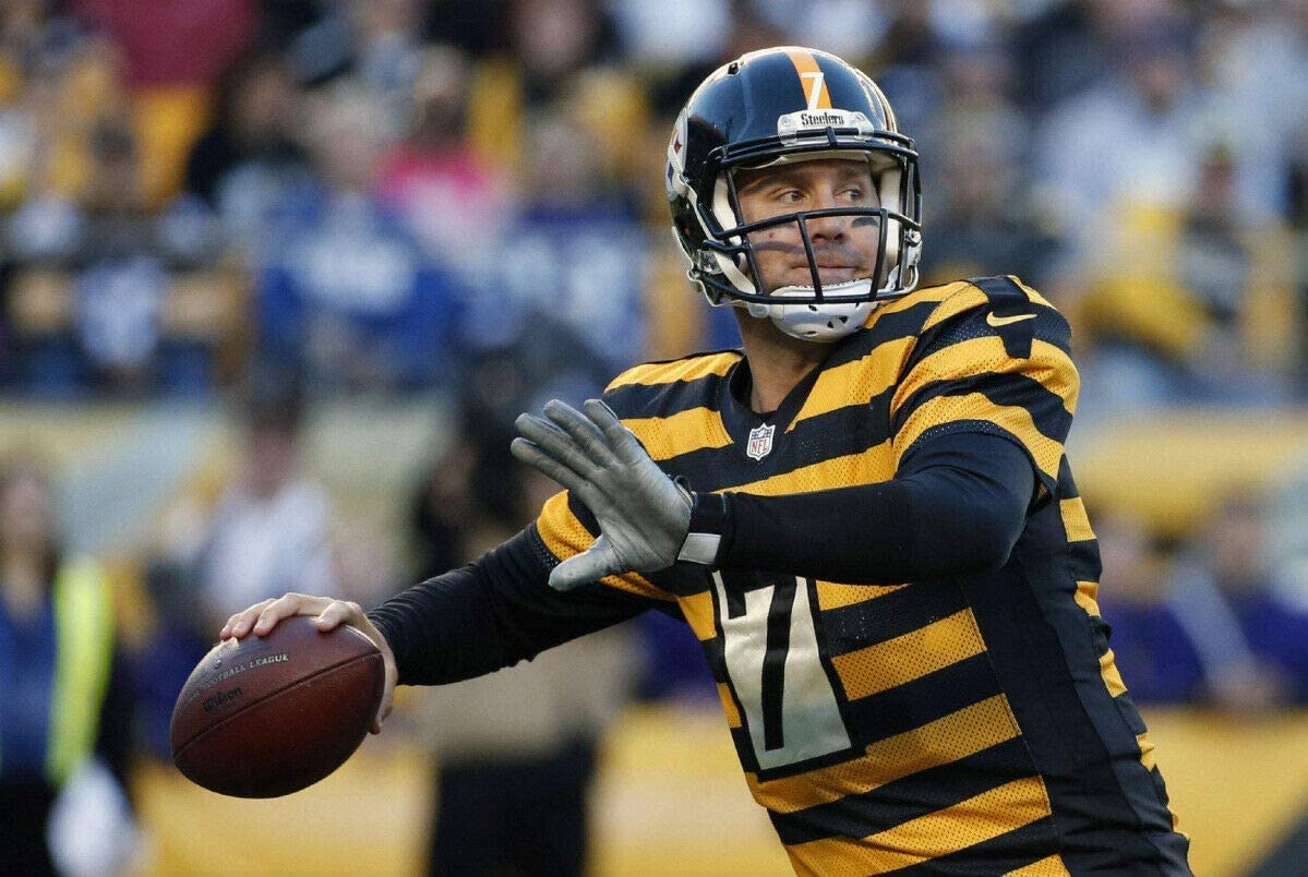 bucraft Ben Roethlisberger Waiting for The Pass 8x10 Picture Celebrity Print