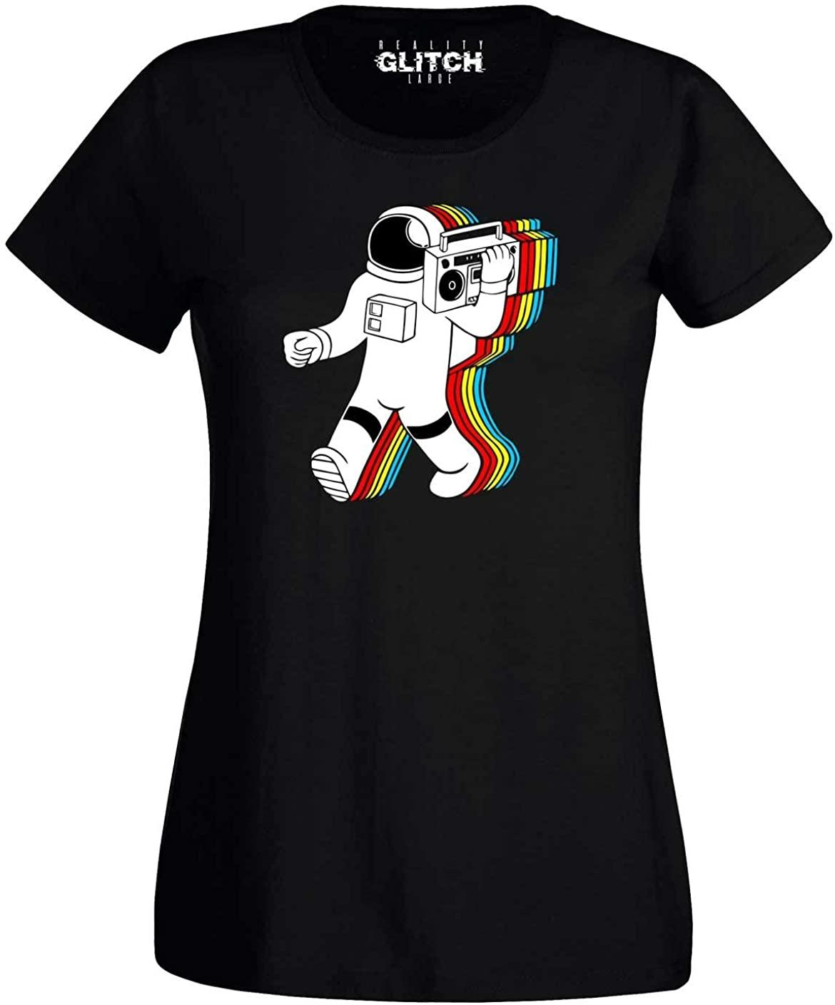 Reality Glitch Women's Funky Spaceman T-Shirt