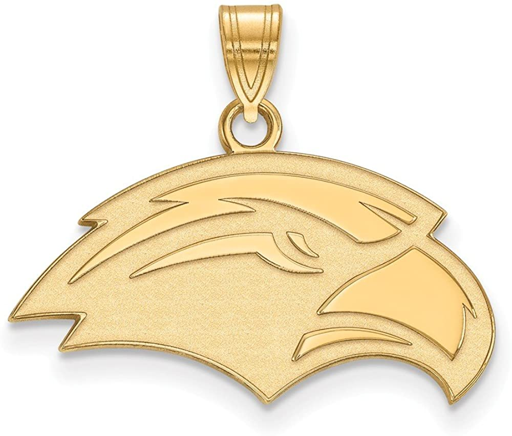 Solid 10k Yellow Gold Official University of Southern Miss Small Pendant Charm - 20mm x 23mm