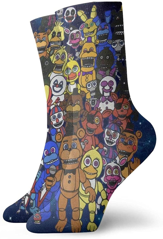 Five Nights At Freddy'S Pattern Sox Unisex Fashion Crew Socks