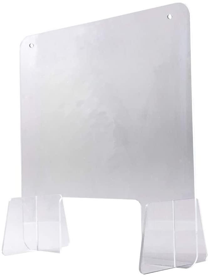 "PAERSHI Transparent Acrylic Protective Shield Sneeze Guard Cough Protective Board Office Salesperson Desktop Hangable plexiglass Safety Shield(18.5""x18.5"