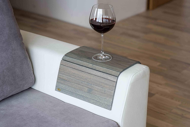 Sofa arm Table Sofa Table Couch arm Table Sofa arm Tray Sofa Tray Wood Coaster Couch Table Sofa arm armrest Table Custom Sofa (New Grey) (no Extras)