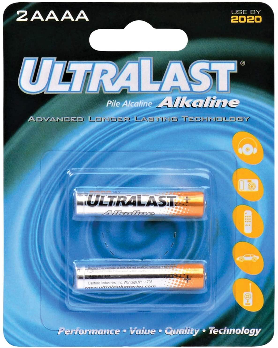 Ultralast UL2AAAA Alkaline Battery Retail Packs