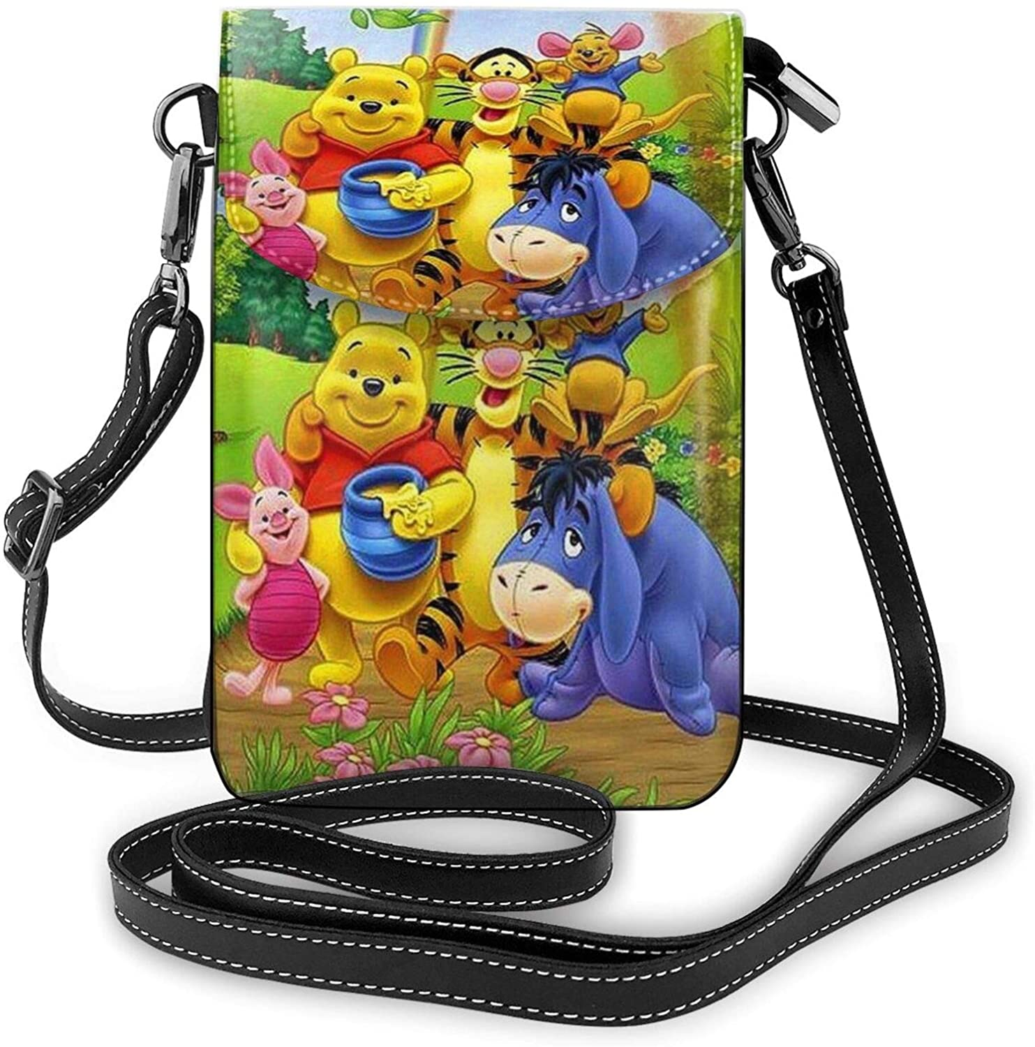 Kuritian Small Crossbody Bags Cell Phone Pursewinnie The Pooh Print With Credit Card Slots