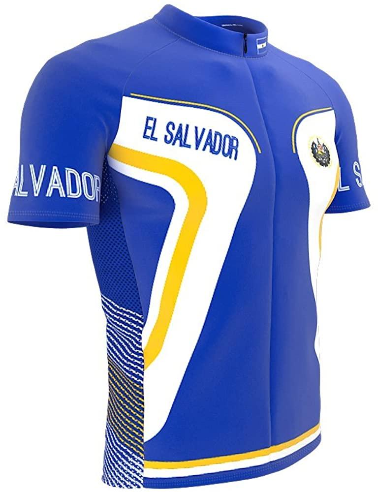 ScudoPro El Salvador Full Zipper Bike Short Sleeve Cycling Jersey for Women