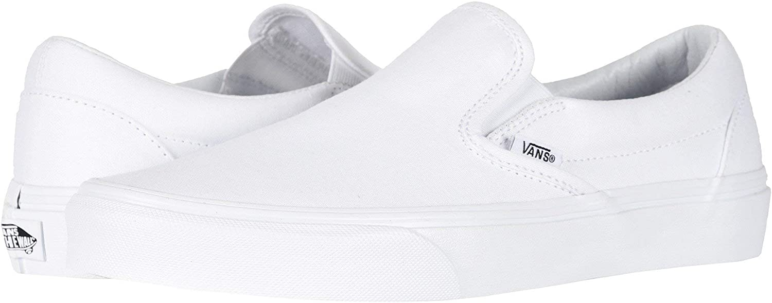 Vans Unisex Adults' Classic Slip On Trainers True White