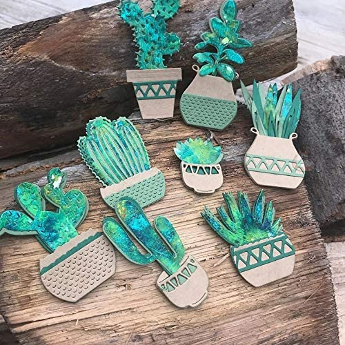 Cactus Plant Metal Cutting Dies Mold Knife Scrapbooking Stencil DIY Embossing Craft Die Cuts Card MakingDies for 20 Photo Cards