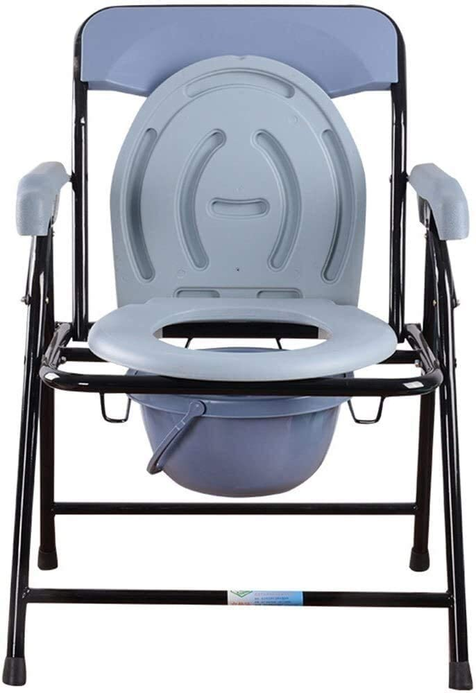 XHCP Portable Commode Toilet Chair, Heavy-Duty Steel Commode Toilet Chair with Toilet Safety Frame for Pregnant Women The Elderly Disabled 823