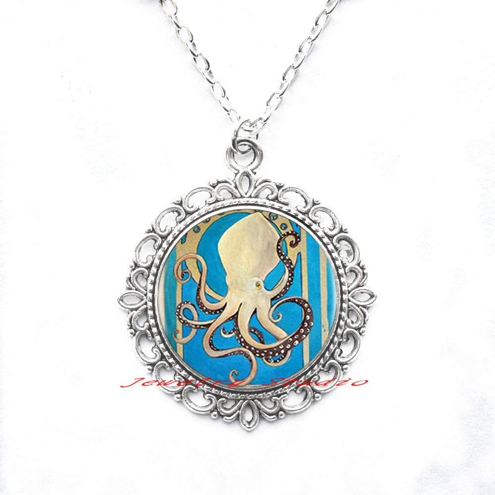 Jewelry Studio Octopus Necklace • Best Friend Necklace • BFF Gift • Octopus Charm Necklace-HZ0153
