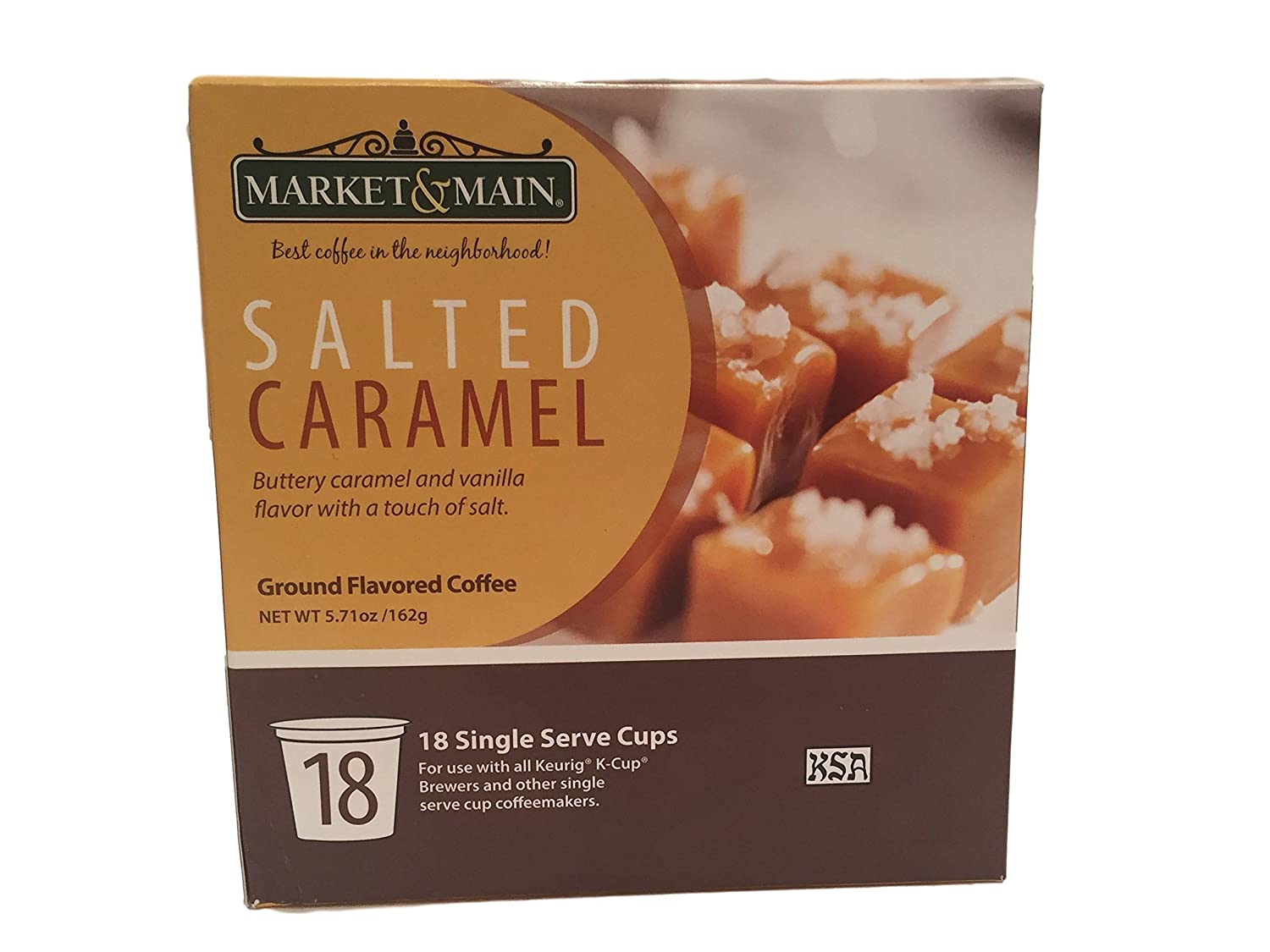 Market & Main Salted Caramel 18 Single Serve Coffee Cups
