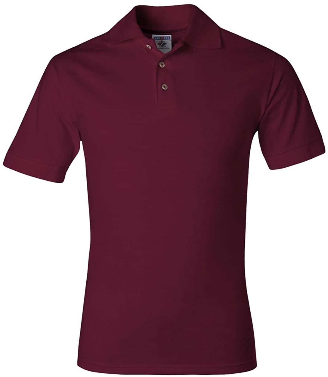 Jerzees 6.1 oz. Heavyweight Cotton Jersey Polo, Medium, MAROON