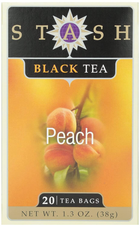 Stash Peach Black Tea, Tea , 20 ct