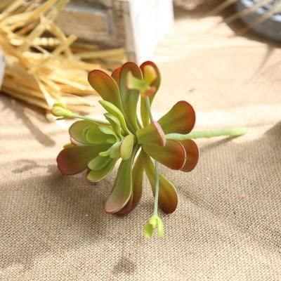 ShineBear 1 Pc Artificial Flower Fake Succulents Nymphaea Tetragona Floristry Plant Arrangement Wedding Home Decorative - (Color: Light Red)