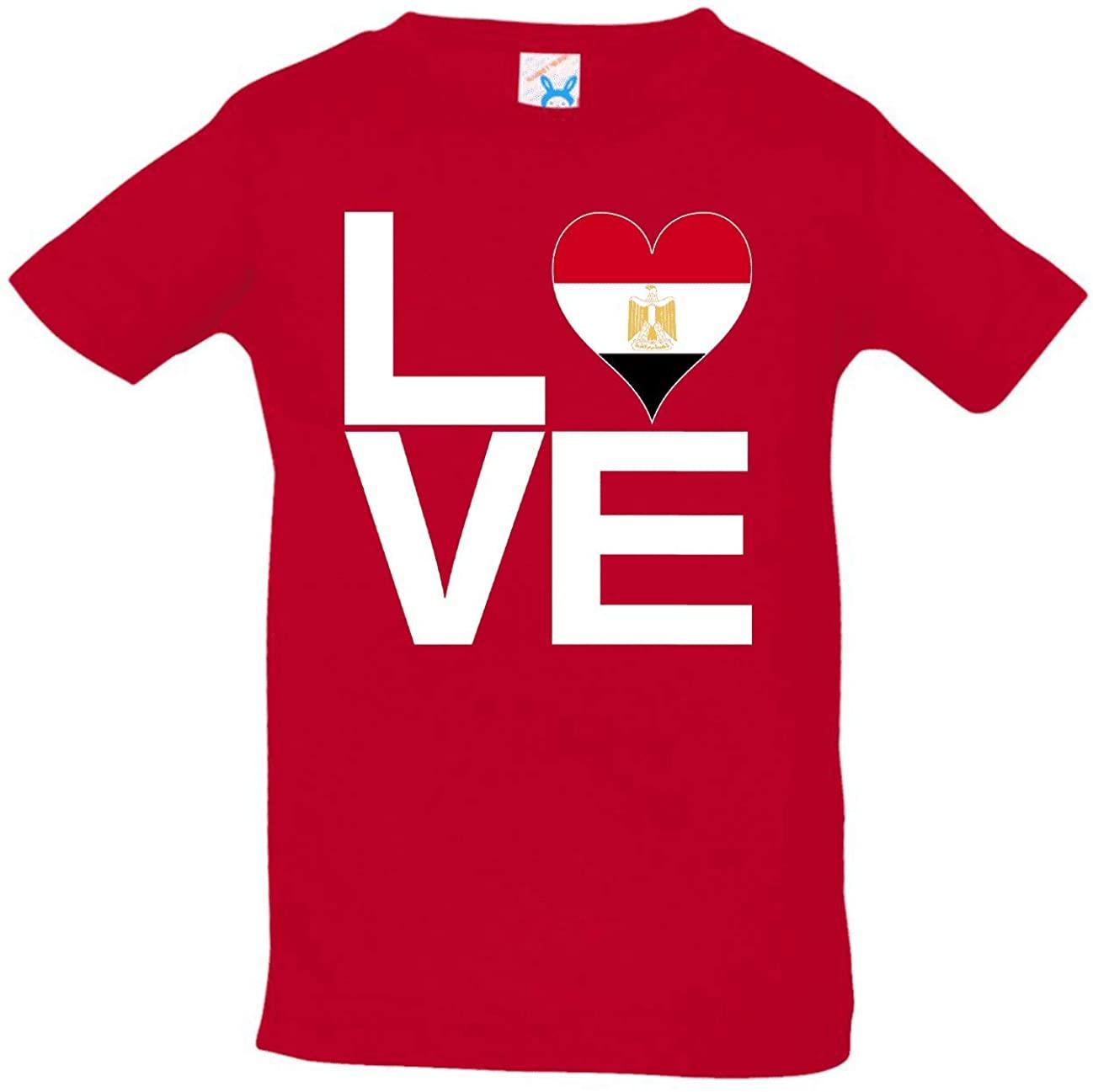 HARD EDGE DESIGN Infant's Love Block Egypt Heart Shirt, 18 Months, Red