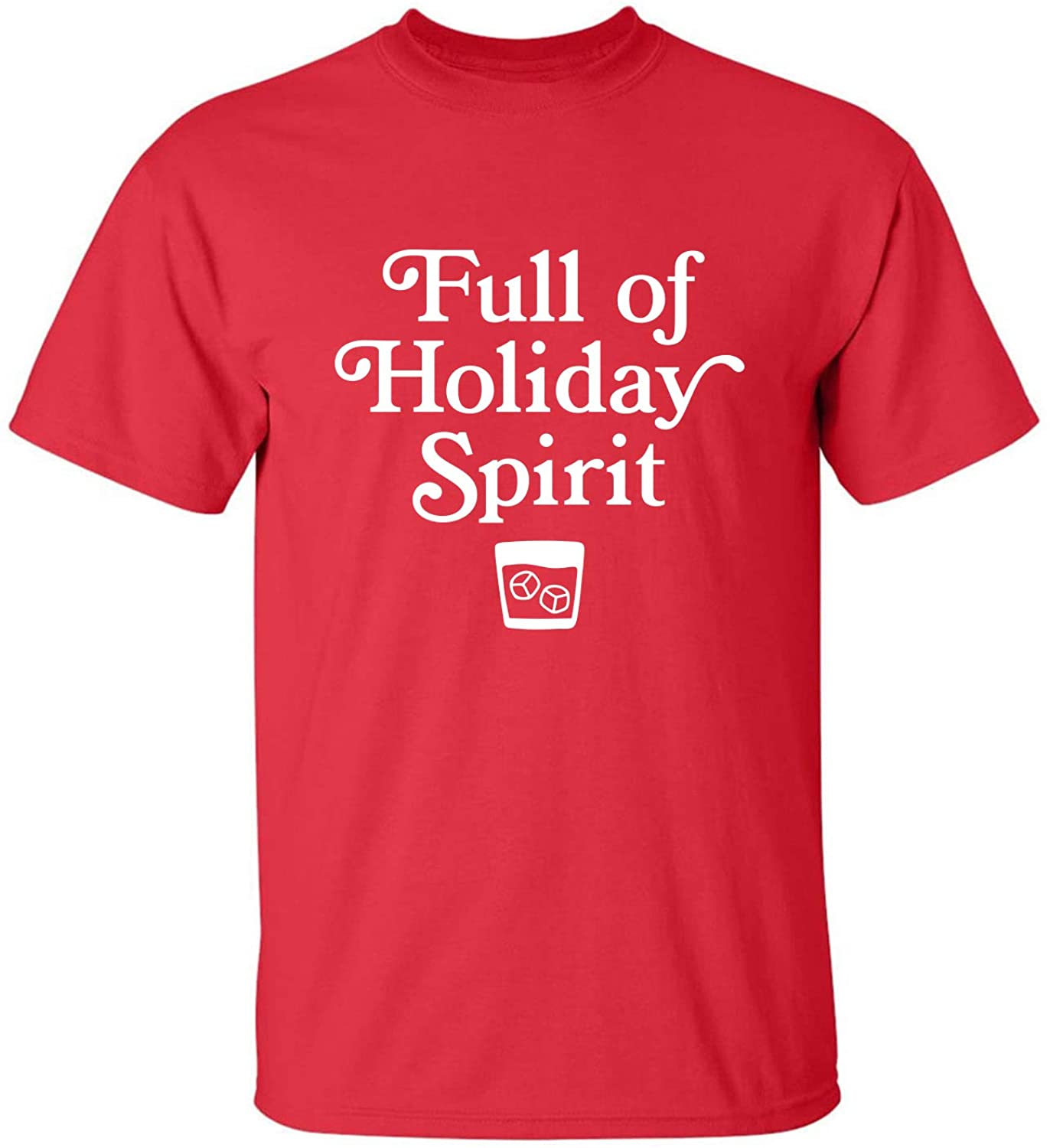 Full of Holiday Spirit Adult T-Shirt in Red - XXXX-Large