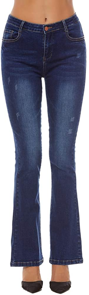 AvaCostume Women's High Rise Stretch Bootcut Jeans