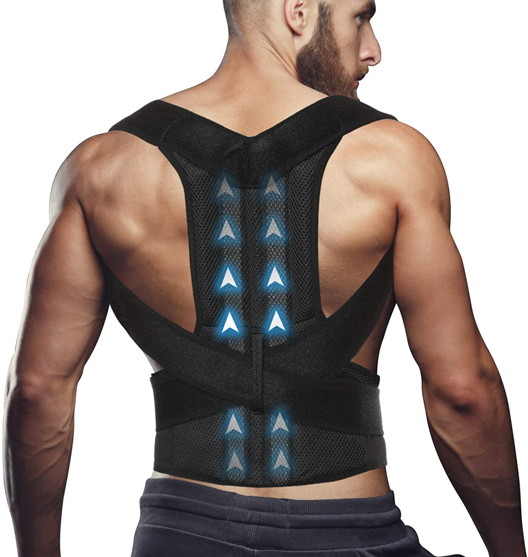 Back Posture Corrector Straightener Brace for Men Women, Shoulders Support Straps Humpback Correction, Adjustable Under Clothes for Upper Lower Back Shoulder Lumbar Pain Relief XL