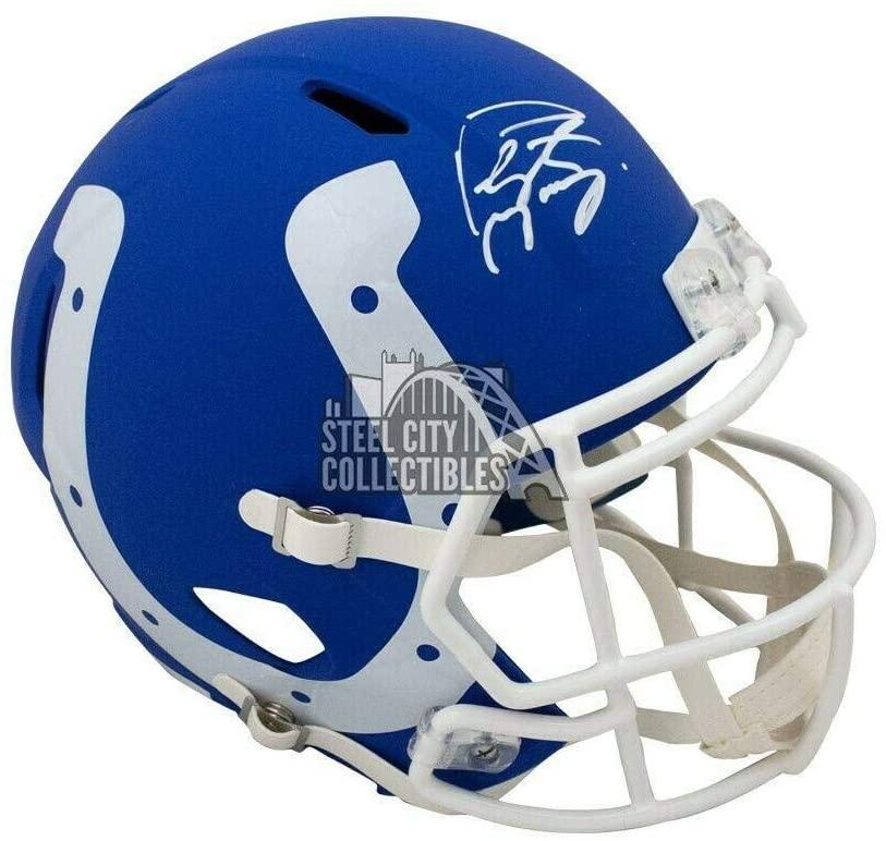 Peyton Manning Autographed Colts AMP Replica Full-Size Helmet - Fanatics - Autographed NFL Helmets