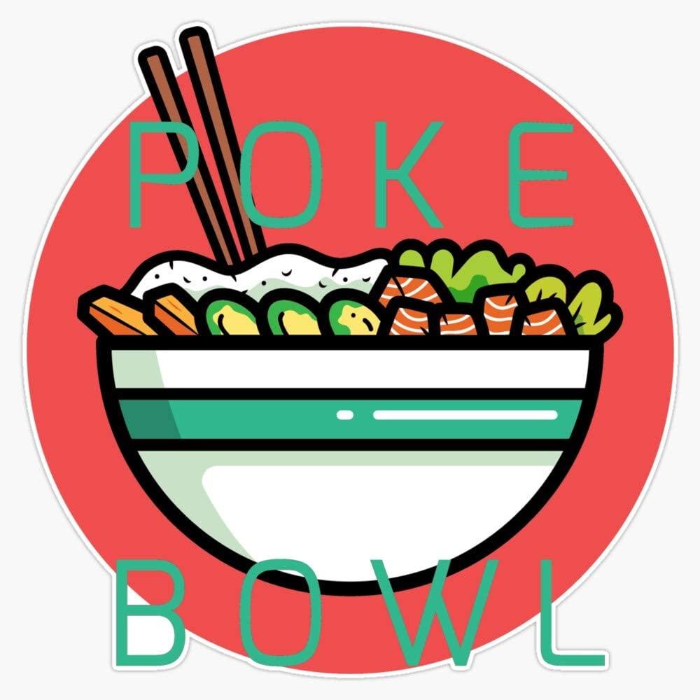 LAD Studio Poke Bowl Sticker Vinyl Bumper Sticker Decal Waterproof 5