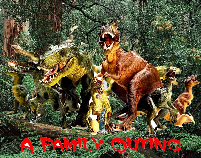 Jungle Life Wild Animals Jurassic Dinosaurs Puzzle
