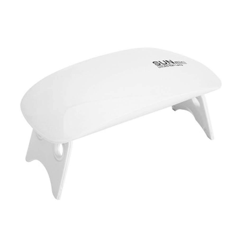 UV LED Nail Lamp, Gel Nail Light for Nail Polish 6W UV Dryer with 2 Timers, Nail Dryers, Nail Polish Curing Lamps (White)