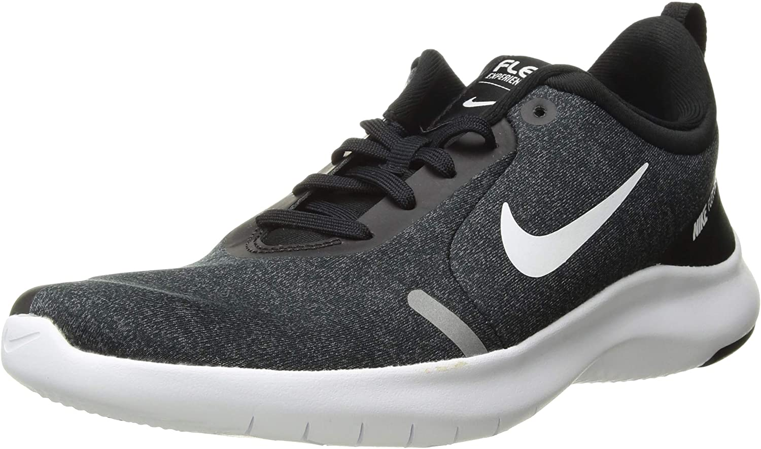 Nike Women's Flex Experience Run Shoe, Black/White-Cool Grey-Reflective Silver, 8 Wide US