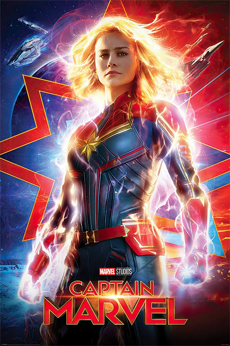 Captain Marvel - Marvel Comics Movie Poster (Regular Style) (Size: 24 x 36 inches)