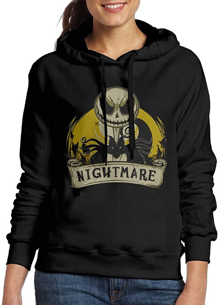 Nightmare Before Christmas Jack Skellington Athletic Womens Hoodie Sweatshirts Crew-Neck