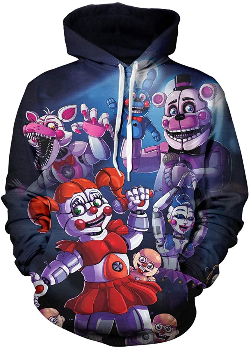 RONGANDHE Kids Costume 3D Printed Pullover Hoodie for Unisex Sweatshirts Boy/Girl