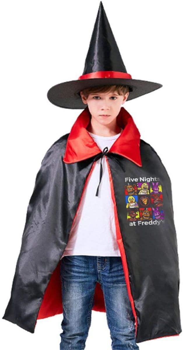 Djkjpds Five Nights at Freddy's Halloween Wizard Hat Cape Cloak