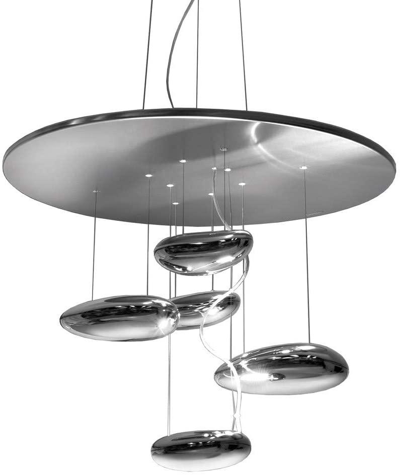 Artemide Mercury Mini Pendant Suspension Lamp INOX 1479010A by Ross Lovegrove