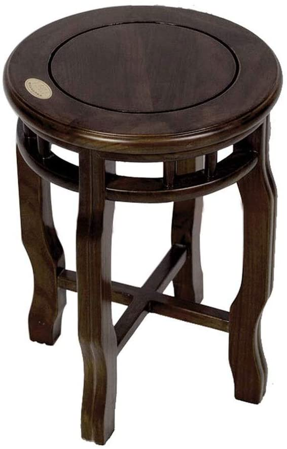 Nologo XIXINIU Wooden Bench-Old Beech Wood Creative Solid Wood Stool Antique Stool and Qing Classical Dining Chair Solid Wood Round Stool Chinese Antique
