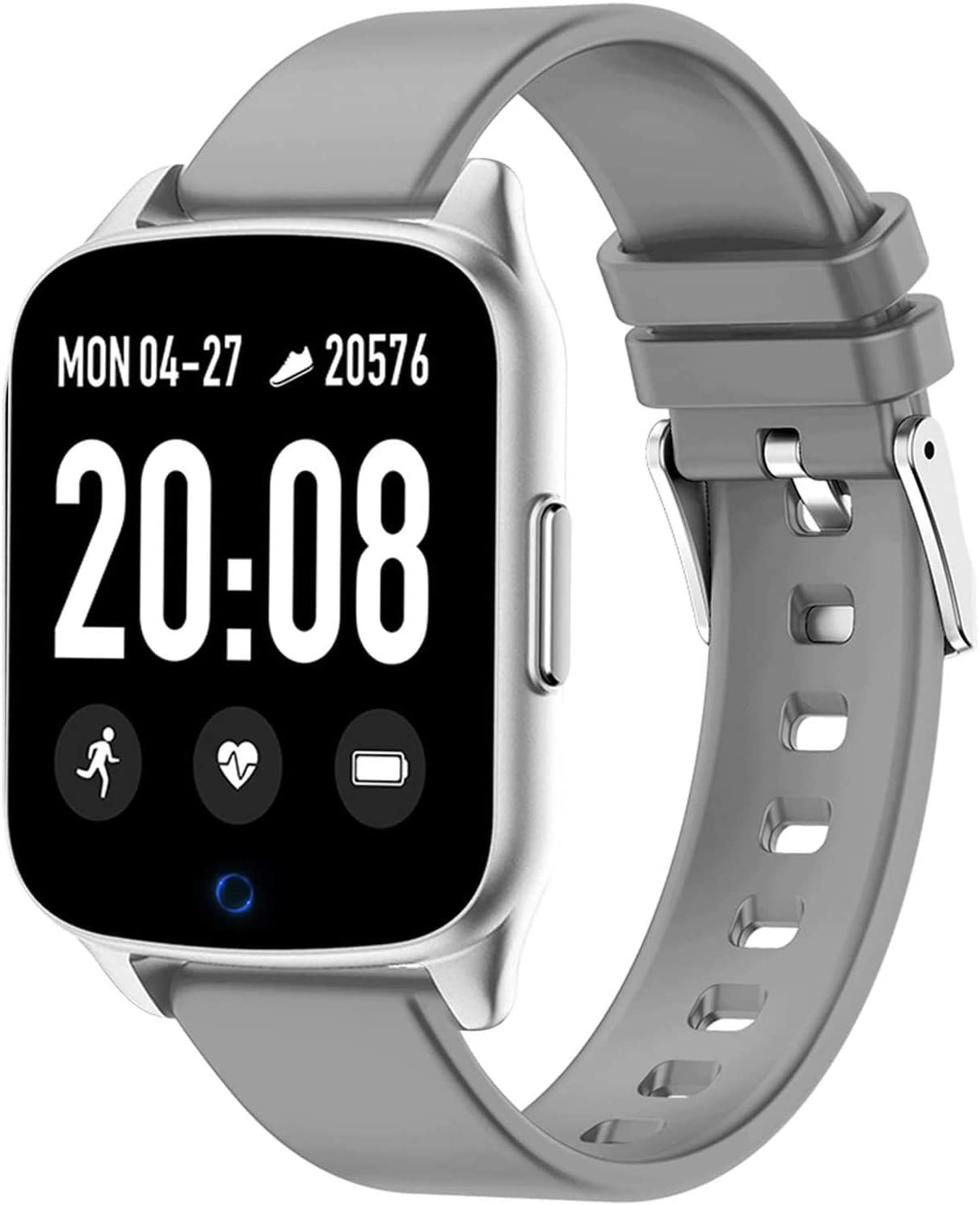 DOOK Smart Watch 2020 New Version, 1.3 Touch Screen Watches for Men Women Pedometer, Fitness Tracker Blood Oxygen Meter Heart Rate Monitor IP68 Waterproof,Compatible with iPhone Android Phones,Gray
