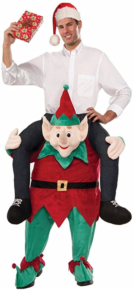 Christmas Carry Ride On Me Shoulder Santa Claus Mascot Costume Ride On Costume