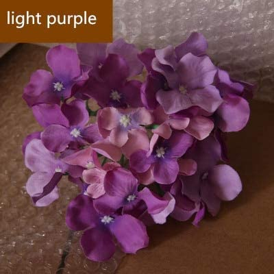 ShineBear Silk Flower Artificial Flower Heads Hydrangea Orchid Flower DIY Flores Home Decoration Wedding Flower Bedroom Accessory 100pcs - (Color: Light Purple)