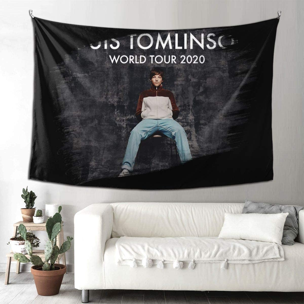 Needlove Funny Louis Tomlinson World Tour 2020 Tapestries Tapestry Wall Hanging 90