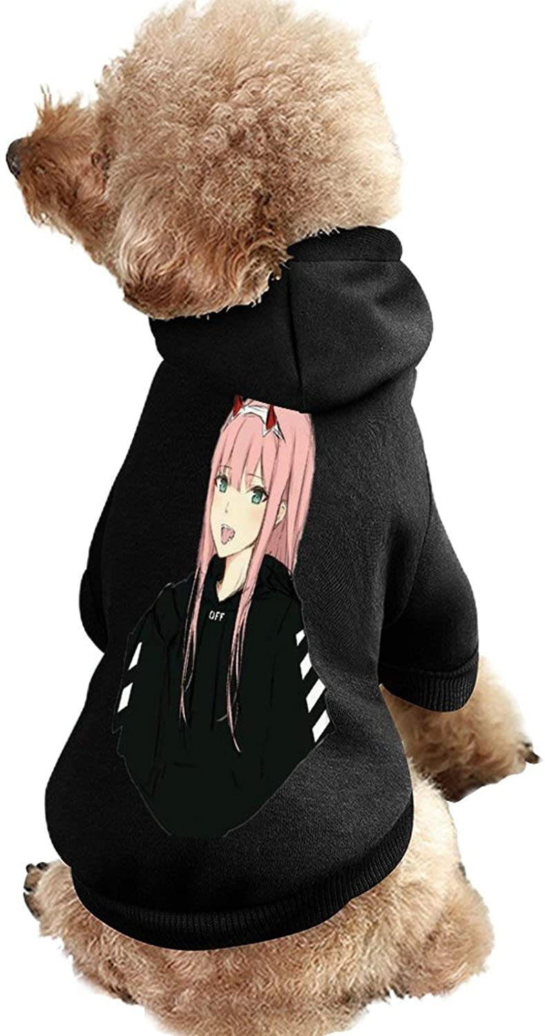 MissYo Darling in The FRANXX Dog Coat with Hat Funny Costume Winter Soft Dog Jumpsuit Pet Sweater Coat