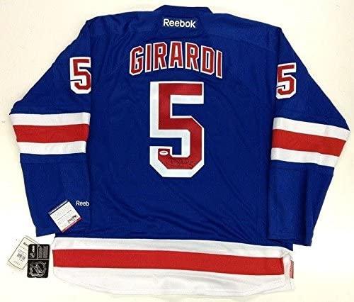 Dan Girardi Signed New York Rangers Rbk Premier Jersey Psa/dna Coa - Autographed NHL Jerseys