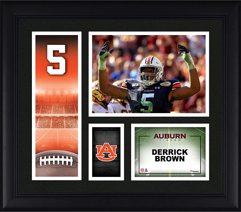 Derrick Brown Auburn Tigers Framed 15