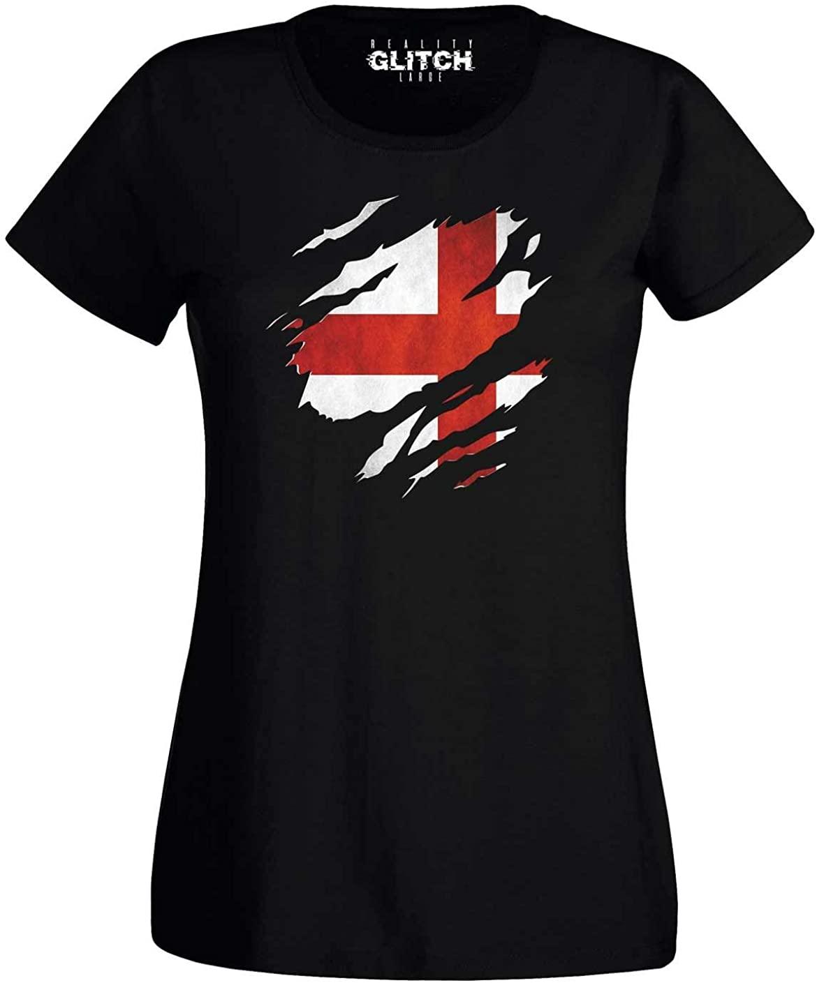 Reality Glitch Women's Torn England T-Shirt