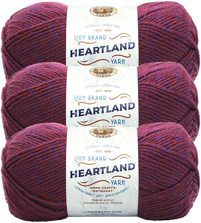 (3 Pack) Lion Brand Yarn 136-189H Heartland Yarn, Isle Royale