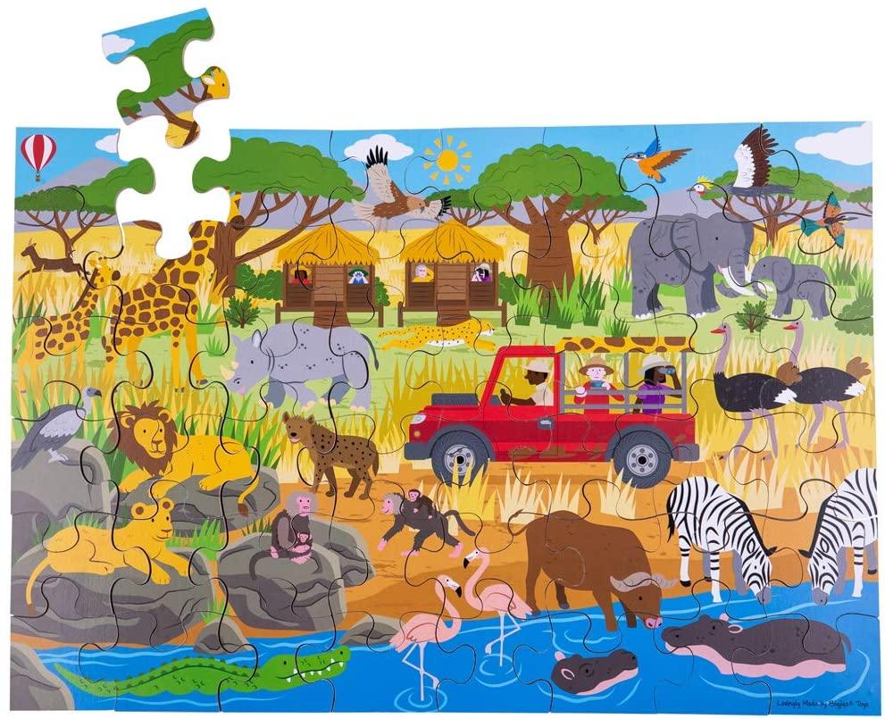 Bigjigs Toys African Adventure Floor Puzzle (48 Piece)