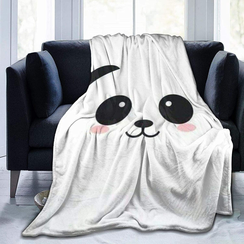 ARRISUM Cute Panda Super Soft Flannel Throw Blanket for Adult and Kids, Digital Printed Ultra-Soft Micro Fleece Blanket 80